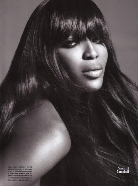 Supermodels Vogue Italy July 2009 Naomi Campbell