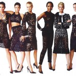Supermodels wearing lace Vanity Fair 2008
