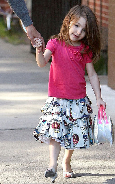 Suri Cruise High Heels white sandals