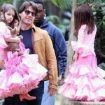 Suri Cruise Spain Pink Flamenco dress