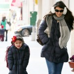 Suri Cruise wears winter jacket