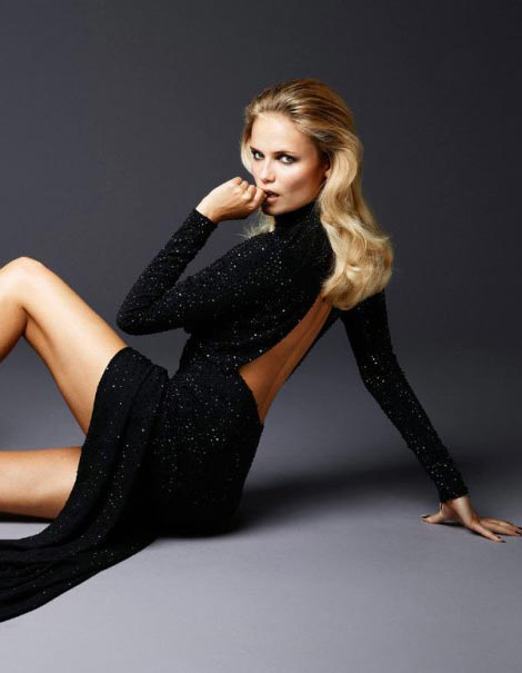 swept back waby hair Natasha Poly Madame Figaro