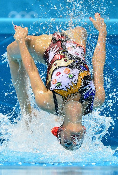 swimming team suits Fashionable Swimsuits: Russia's Synchro Swimsuits Inspired By Miu Miu Print