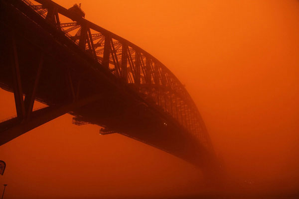 Sydney red dust