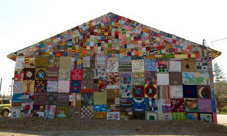 Syracuse Gas Station Covered with fabric back
