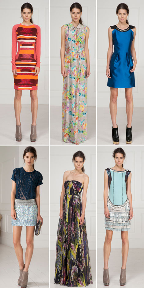 Tailored party outfits Matthew Williamson Resort 2013 Collection