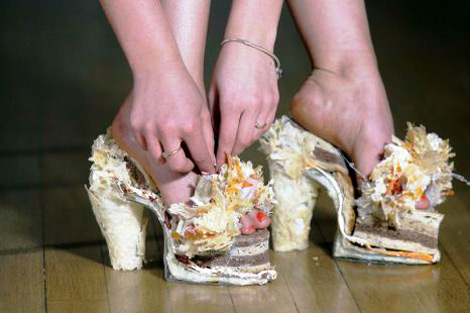 Tasty cheese shoes