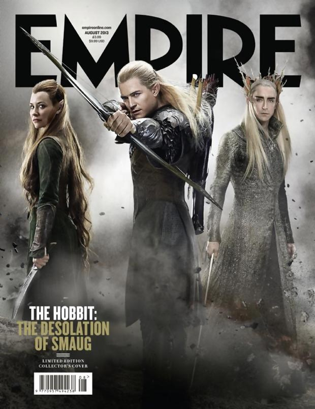 Tauriel Legolas Thranduil cover Empire magazine