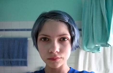 Tavi blue hair