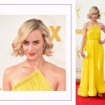 Taylor Schilling 2015 Emmy Awards Red Carpet hairdo
