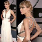 Taylor Swift daring white dress 2013 Grammy Awards