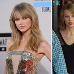 Taylor Swift haircut before after