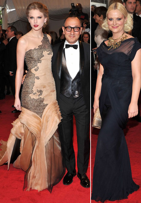 Taylor Swift J Mendel dresses Met Gala 2011