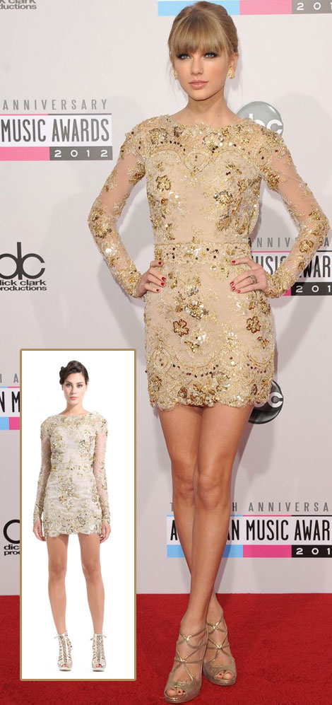 Taylor Swift mini dress AMAs 2012