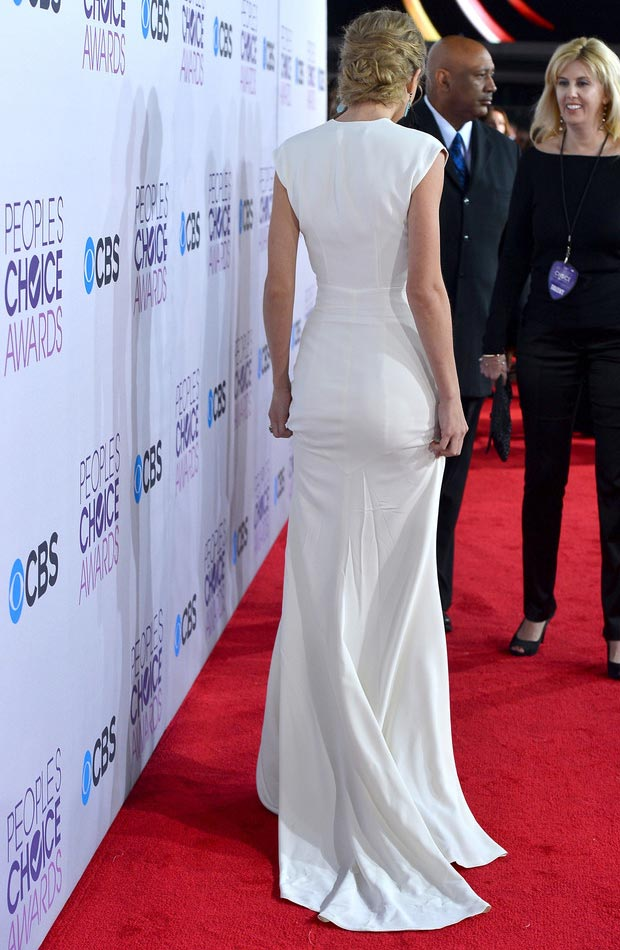 Taylor Swift white dress People s Choice Awards 2013