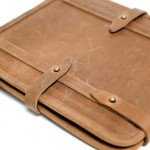 Temple leather iPad case side