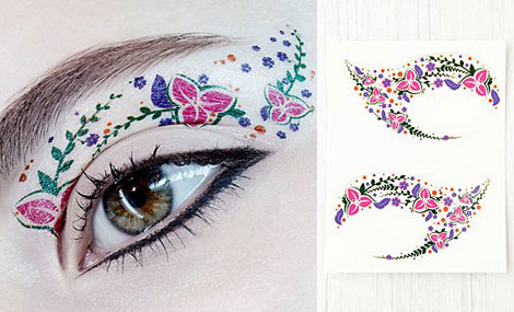 Temporary Tattoos eye flowers