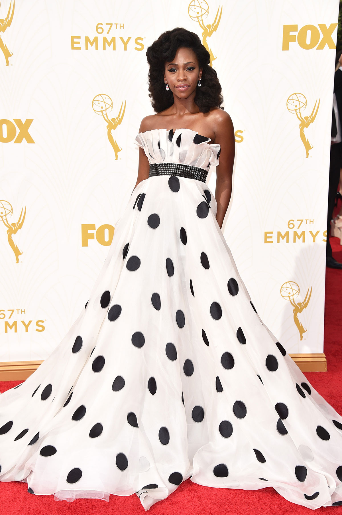 Teyonah Parris 2015 Emmy Awards Red Carpet dress