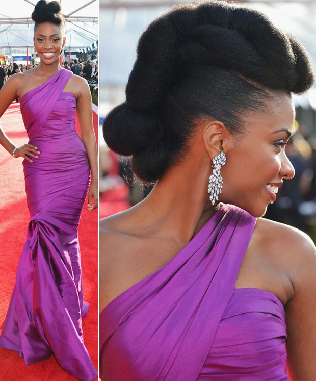 Teyonah Parris most impressive hairdo 2013 SAG Awards
