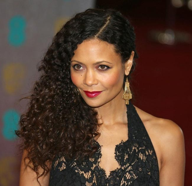 Thandie Newton 2013 BAFTA Awards hair makeup earrings
