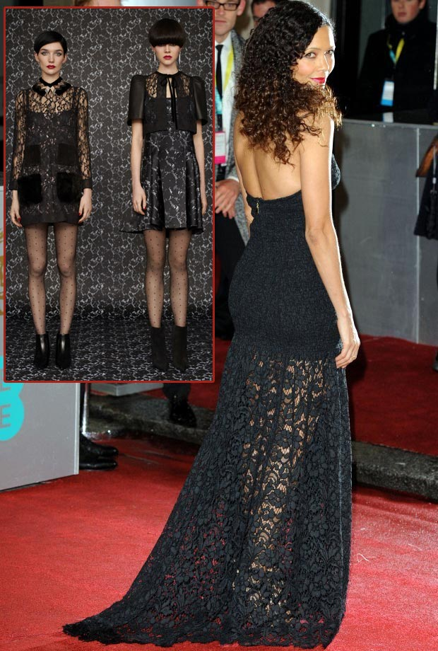 Thandie Newton 2013 BAFTA Louis Vuitton black dress