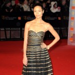 Thandie Newton black dress Bafta 09
