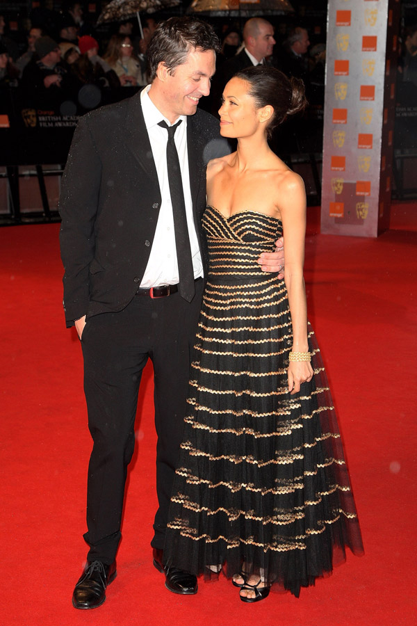 Thandie Newton black dress Bafta 09 2