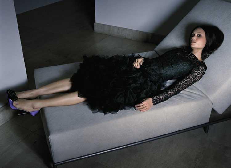 Thandie Newton black lace