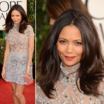 Thandie Newton see through Giles dress 2013 Golden Globes