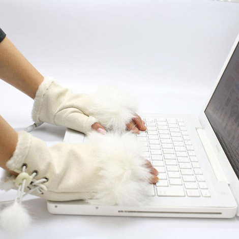 Thanko USB warm gloves