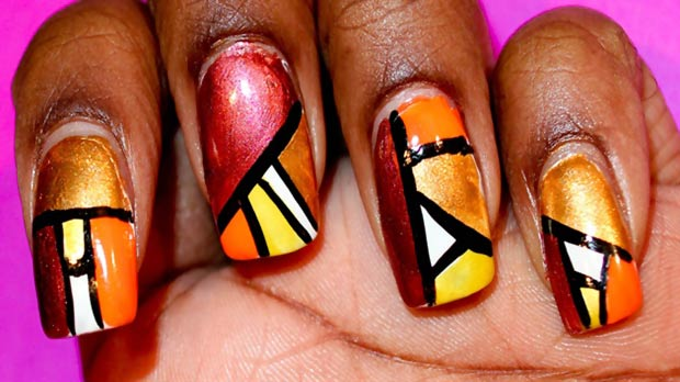 Thanksgiving nails graphic fall colors