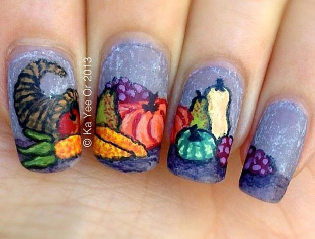 Thanksgiving nails Thanksgiving dinner