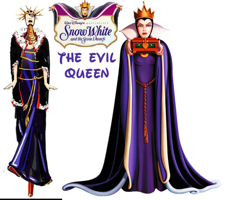 the Evil Queen fashion update Disney Villains Snow White