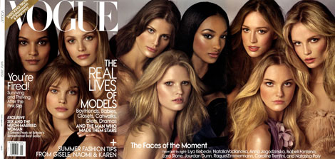 The Faces of the Moment Vogue May 2009