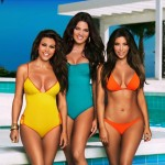 The Kardashian Sisters in the pool for Tanning Lotion Ad
