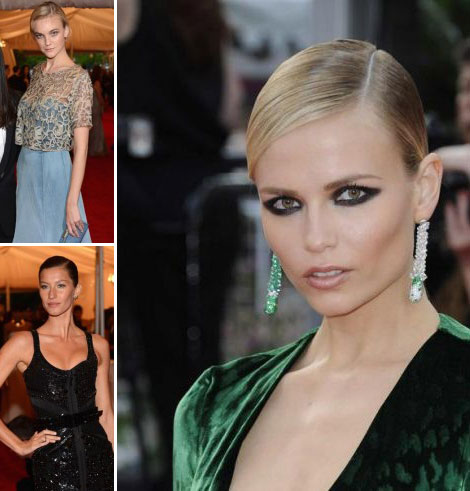 2012 Evening Hair Must: Slick Deep Side Part Back Chignon