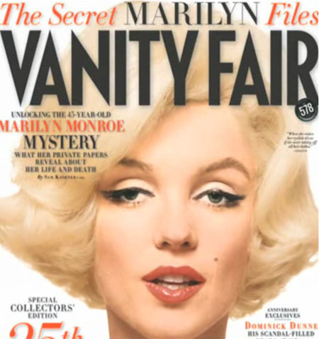 The Secret Marilyn Files Vanity Fair October 2008 Cover