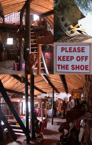 The Interior of The Shoe House from Mpumalanga, South Africa