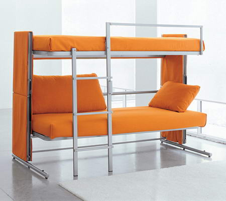 The Transformable Sofa Opened Bunk Bed