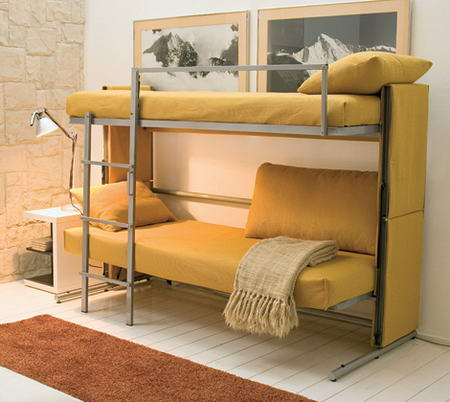 The Transformable Sofa In Yellow