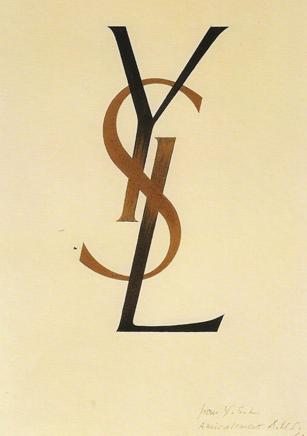 the YSL Monogram typeface designed by Cassandre