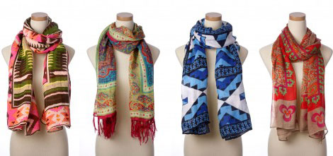 Theodora and Callum multi printed scarf