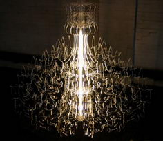 Therese Chandelier yellow