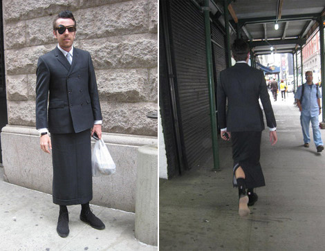Thom Browne's Men Skirt Suit On The Move!