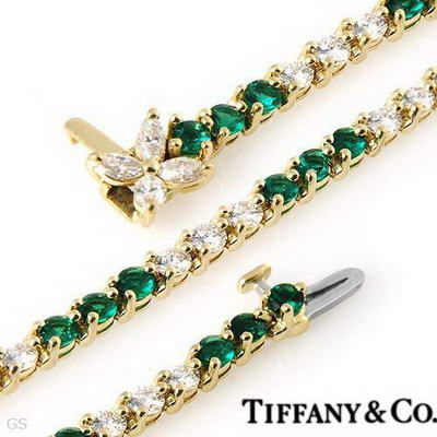 Tiffany and Co Diamond and Emerald Bracelet