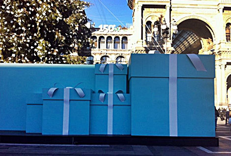 Tiffany Christmas tree Milan boxes