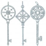 Tiffany Co White Gold Diamond Keys