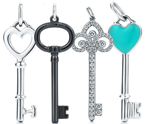 Tiffany Diamond pendant Keys