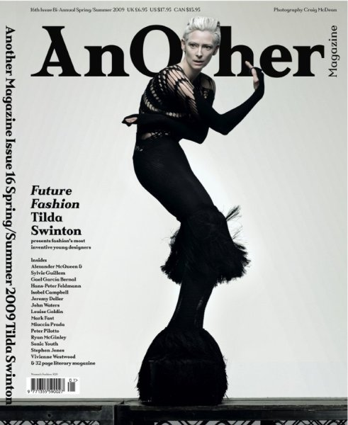 Tilda Swinton Another Magazine ss09 black cover