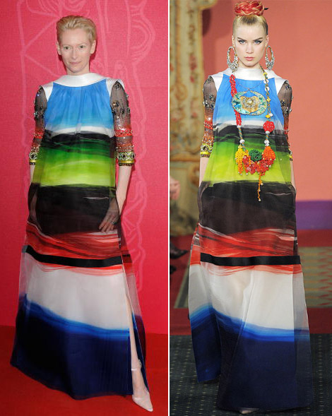 Tilda Swinton's Christian Lacroix Dress César 2009